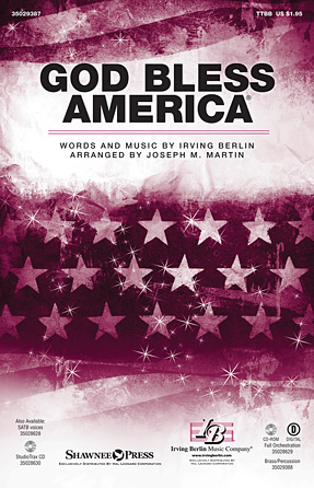 God Bless America : TTBB : Joseph Martin : Irving Berlin : Sheet Music : 35029387 : 884088957100