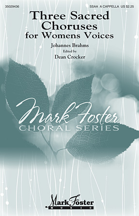 Product Cover for Three Sacred Choruses for Women's Voices
