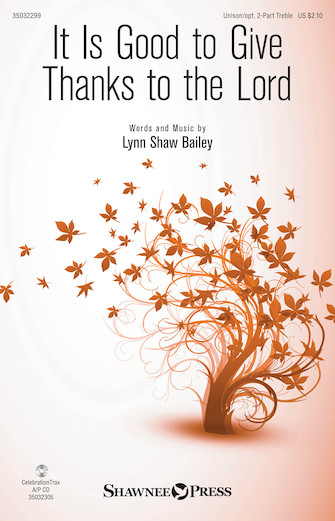 Product Cover for It Is Good to Give Thanks to the Lord