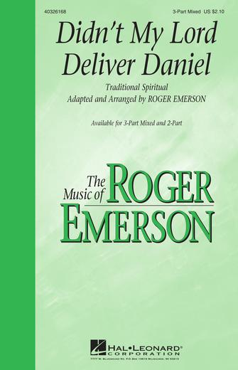 Didn't My Lord Deliver Daniel : SAB : Roger Emerson : Sheet Music : 40326168 : 073999261684