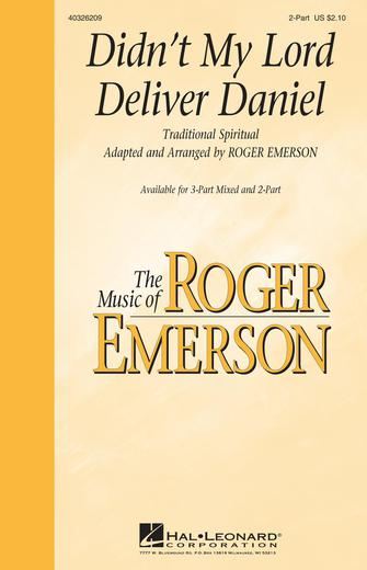 Didn't My Lord Deliver Daniel : 2-Part : Roger Emerson : Sheet Music : 40326209 : 073999262094
