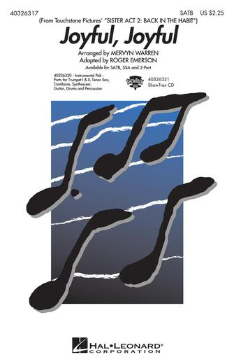 Joyful, Joyful : SATB : Roger Emerson : Alan Menken : Sister Act : Sheet Music : 40326317 : 073999263176