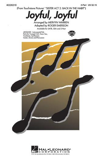 Joyful, Joyful : 2-Part : Roger Emerson : Alan Menken : Sister Act : Sheet Music : 40326319 : 073999263190