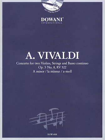 Product Cover for Vivaldi: Concerto for Two Violins, Strings and Basso Continuo in A Minor, Op. 3, No. 8, RV 522