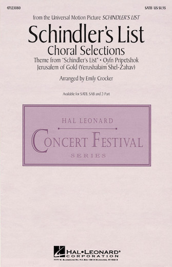 Product Cover for Schindler's List (Choral Selections)