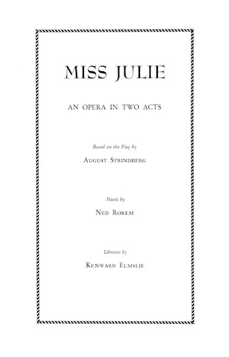 Product Cover for Miss Julie
