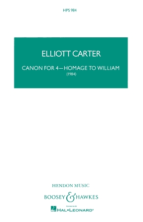 Product Cover for Canon for 4 – Homage to William