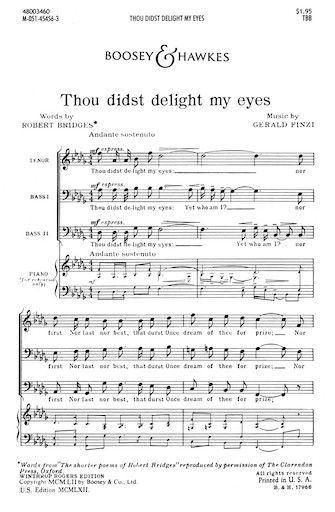 Product Cover for Thou Didst Delight My Eyes