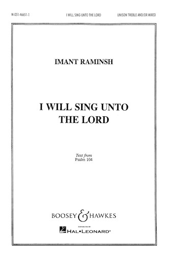 Product Cover for I Will Sing Unto the Lord