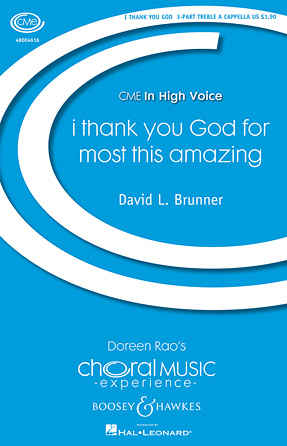 i thank You God for most this amazing : SSA : David L. Brunner : Sheet Music : 48004616 : 073999464894