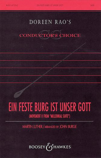 Ein feste Burg ist unser Gott : SATB : John Burge : Martin Luther : Sheet Music : 48005049 : 073999050493