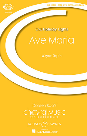 Ave Maria : SATB divisi : Wayne Oquin : Sheet Music : 48005072 : 073999466638