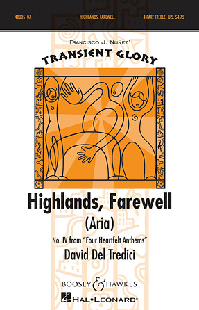 Highlands, Farewell (Aria) : SSAA : David Del Tredici : David Del Tredici : Sheet Music : 48005107 : 073999051070