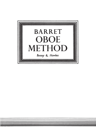 Product Cover for Oboe Method