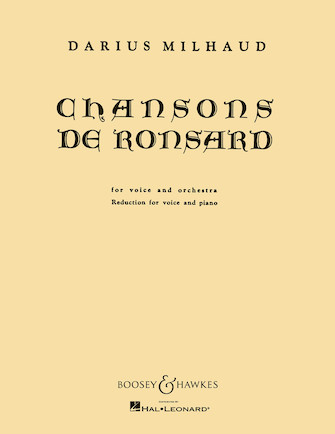 Product Cover for Chansons de Ronsard