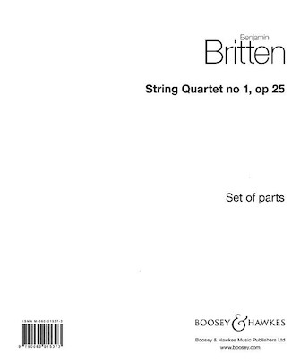 Product Cover for String Quartet No. 1, Op. 25