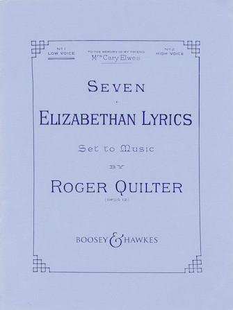 Product Cover for Seven Elizabethan Lyrics, Op. 12