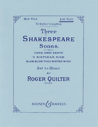 Product Cover for Three Shakespeare Songs, Op. 6