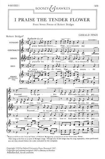 I Praise the Tender Flower : SATB : Gerald Finzi : Sheet Music : 48009732 : 073999679595