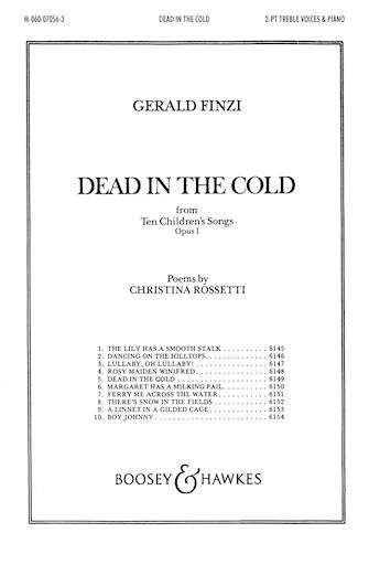 Dead in the Cold : 2-Part : Gerald Finzi : Gerald Finzi : Sheet Music : 48010816 : 073999687958