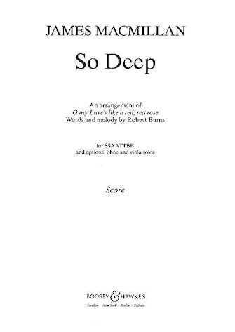 Product Cover for So Deep