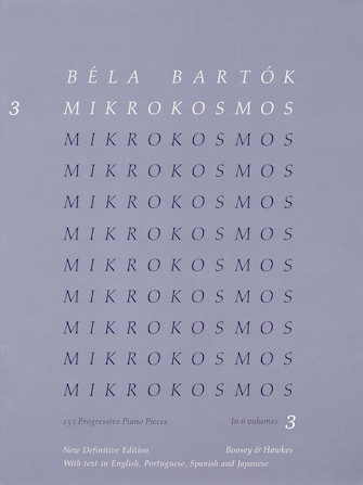 Product Cover for Mikrokosmos Volume 3 (Blue)