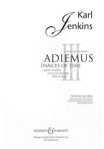 Product Cover for 3 Movements from Adiemus III