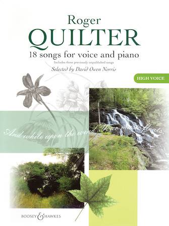 Product Cover for Roger Quilter – 18 Songs for Voice and Piano