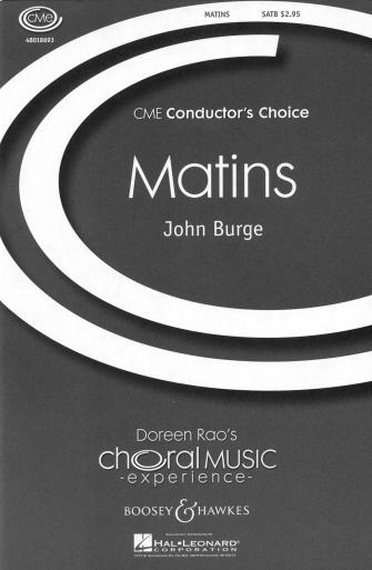 Matins : SATB divisi : John Burge : John Burge : Sheet Music : 48018693 : 073999186932
