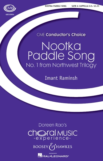Nootka Paddle Song  : SATB : Imant Raminsh : Sheet Music : 48018904 : 073999655148
