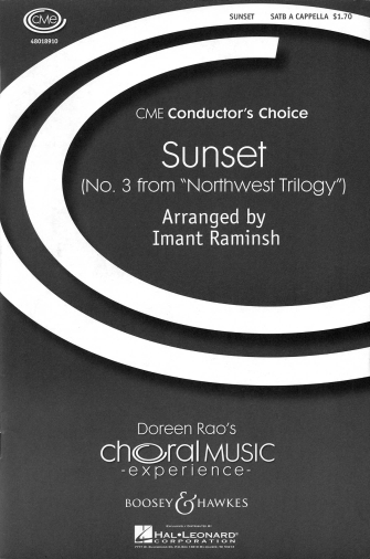 Sunset : SATB : Imant Raminsh : Sheet Music : 48018910 : 073999714135