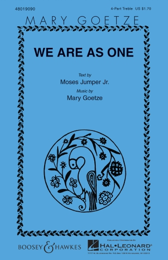 We Are as One : SSAA : Mary Goetze : Sheet Music : 48019090 : 073999999341