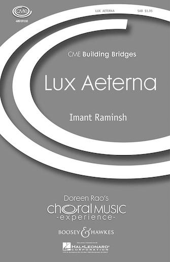 Lux Aeterna : SAB : Imant Raminsh : Sheet Music : 48019110 : 884088036898