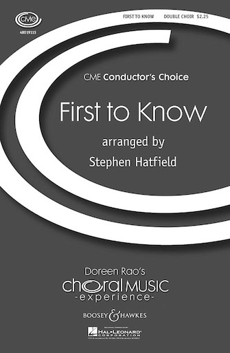 First to Know : SAB : Stephen Hatfield : Sheet Music : 48019115 : 884088039356