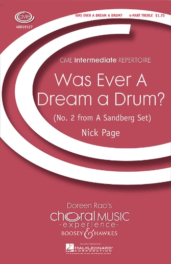 Was Ever a Dream a Drum? : SSA : Nick Page : Nick Page : Sheet Music : 48019127 : 884088053338
