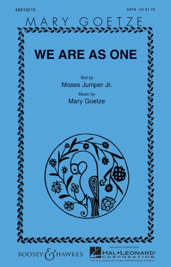 We Are as One : SATB : Mary Goetze : Sheet Music : 48019210 : 884088084905