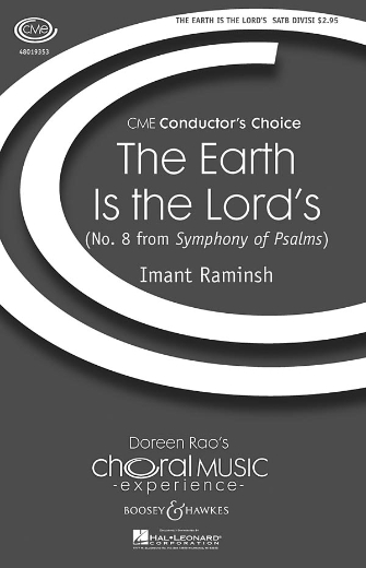 The Earth Is the Lord's : SATB : Imant Raminsh : Sheet Music : 48019353 : 884088115333