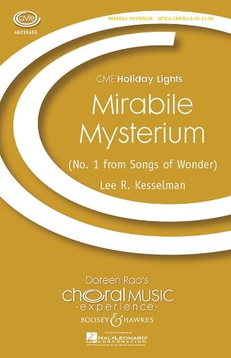 Mirabile Mysterium : SATB : Lee Kesselman : Sheet Music : 48019485 : 884088156848