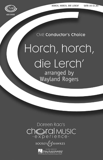 Horch, horch, die Lerch' : SATB : Wayland Rogers : Sheet Music : 48019668 : 884088204068