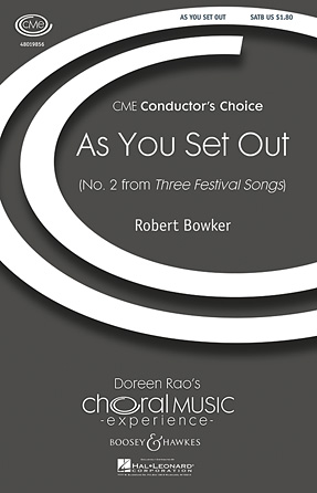 As You Set Out : SATB : Robert Bowker : Robert Bowker : Sheet Music : 48019856 : 884088273002