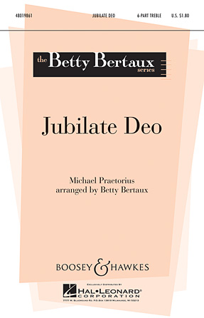 Jubilate Deo : SSSAAA : Betty Bertaux : Sheet Music : 48019861 : 884088273439