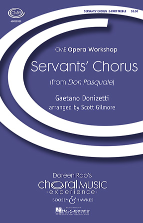 Servants' Chorus : 2-Part : Scott Gilmore : Gaetano Donizetti : Sheet Music : 48019951 : 884088348885