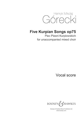 Product Cover for Five Kurpian Songs, Op. 75