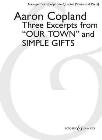 """Product Cover for Three Excerpts from """"Our Town"""" and """"Simple Gifts"""""""