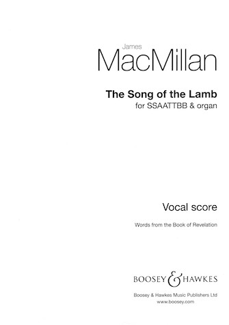 The Song of the Lamb : SSAATTBB : James MacMillan : James MacMillan : Sheet Music : 48020868 : 884088519445