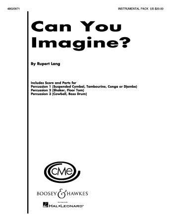 Product Cover for Can You Imagine?