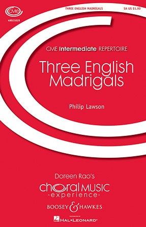 Product Cover for Three English Madrigals