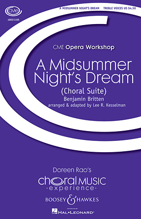 A Midsummer Night's Dream - A Choral Suite : SSAA : Lee Kesselman : Benjamin Britten : DVD : 48021105 : 884088585907