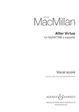 After Virtue : SSSAATTBB : James MacMillan : James MacMillan : Sheet Music : 48021128 : 884088637026