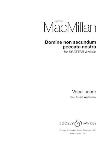 Product Cover for Domine non secundum peccata nostra